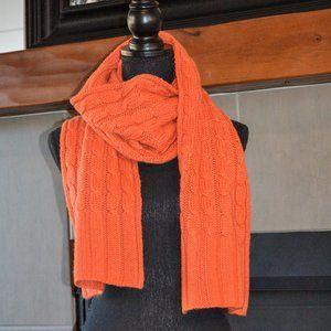 Soft Orange Banana Republic Knit Scarf